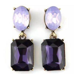 Kate Spade Purple & Gold Dangling Drop Earrings